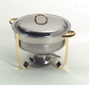Round 18/10 stainless steel chafers - Click for larger view