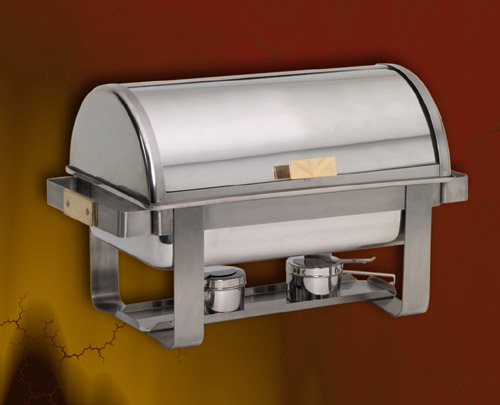 Deluxe Supplies Chafer Round Rectangular Roll Top Stainless Steel Oval Chafers for hotels and restaurants